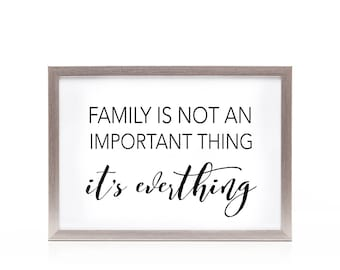 Printable, Family wall decor, family quote, gallery wall decor, family love quote, family quote sign, family quote print, 14X11 20X16