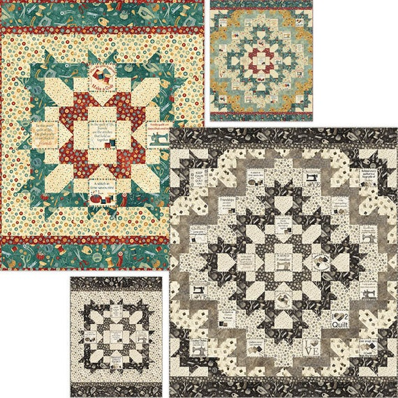 Quilters Medallion Quilt Pattern Uses Northcott A Stitch In
