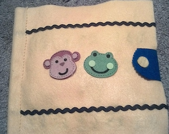 Monkey and frog quiet book