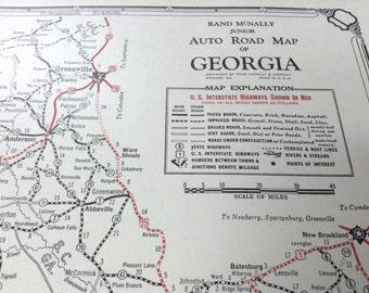 Large map of atlanta Etsy