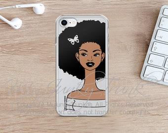 Hair Envy- Natural Hair Black Woman Afro Art iPhone 7, 8 & 7, 8 Plus Case