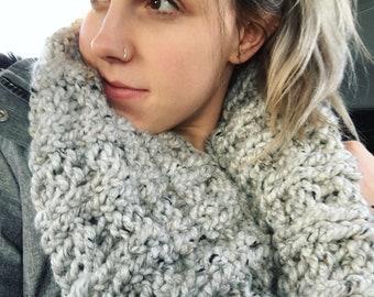 Tweed Grey Infinity Scarf