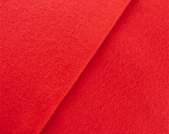 Scarlet Red Double Sided Fleece, Fabric By The Yard