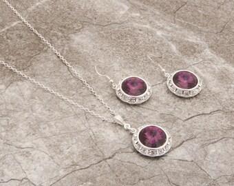 Sangria Bridesmaid Purple Bridesmaid Jewelry Amethyst Wedding Earrings Purple Wedding Earrings Purple Bridal Earring Flower Girl Jewelry