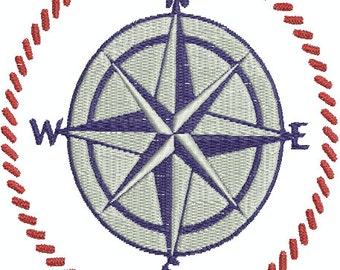 Northern Star Compus (N E S W) - Digital Embroidery Design