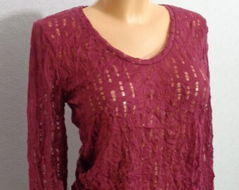 Women Purple Blouse  Extra Large Size