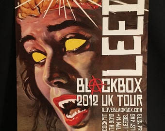 Blackbox The Brain Eaters 2012 UK Concert Tour Poster Leeds Signed/Numbered