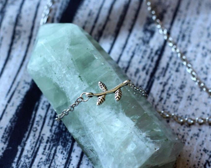 Handcrafted jewelry, dainty branch necklace