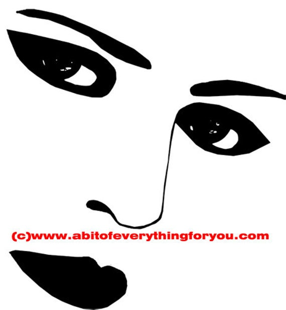 makeup eyes lips facial features printable art clipart png download digital image graphics black and white beauty artwork