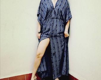 Boho Printed Crep Dress