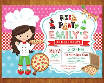 Pizza birthday invitation pizza party invitation boy or girl pizza birthday invitation pizza party invitation girl or boy pizza birthday party invite pizza making italian pizza printable digital stopboris Image collections