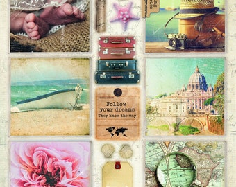 Empheria Studio Light  EASYM620 Memories of Summer Photo pop outs, Making Memories Pop outs for Card Making and Mixed Media