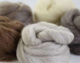 British Wool Bundle no.1, Roving, Wool Roving, Needle Felting, Felting Wool, British Wool, Felting Kit, Roving Wool, Needle Felting Kit