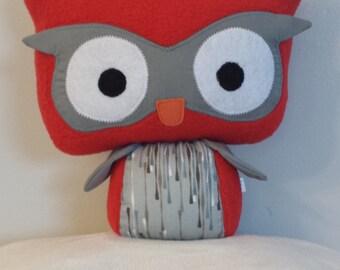 Very soft owl plush, comforting owl, owl pillow toy, big eyes owl, plush fleece, plush little young children