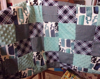 Patchwork Baby Quilt for a Boy