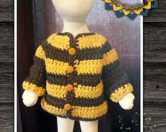 Crochet Bumble bee Baby Sweater