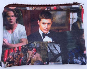 Supernatural Zipper Pouch - Sam and Dean.
