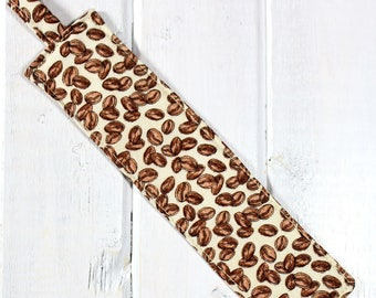 Coffee Beans - Fabric Bookmark