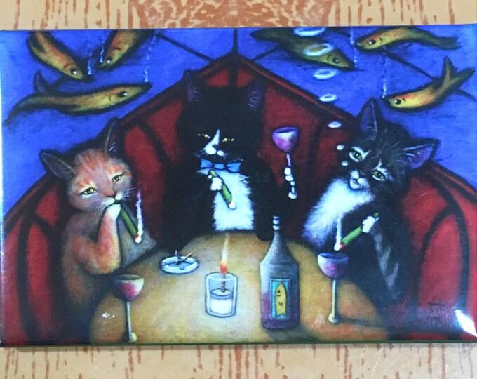 The Catnip Lounge 2x3 Tuxedo Cat Refrigerator Magnet