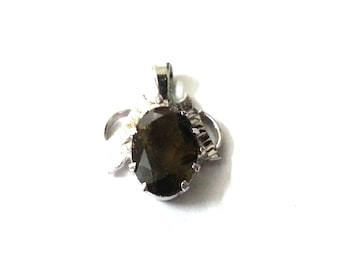 SALE - Tourmoline Pendant - Sterling Silver Pendant, Designer Pendant, Silver Pendant - Handmade Pendant, Gemstone Pendant - Artisan Pendant