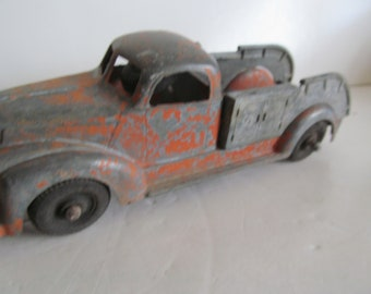 Antique PickUp Truck Toy Art Deco Toy Pickup Chippy Red Pain Wooden Wheel Cars Antique Toy Car Old Metal Toy Cars Antique Cars