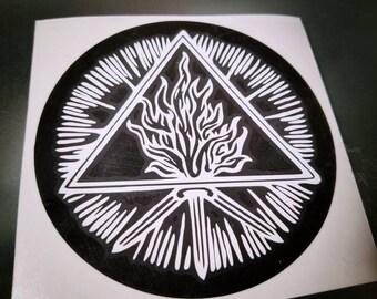 Unholy Trinity cut vinyl decal