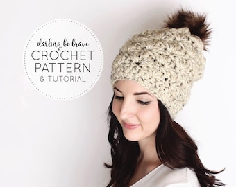 CROCHET PATTERN & TUTORIAL • The Madison Beanie • Chunky Slouchy Hat {Beginner Friendly Pattern Includes Step by Step Photo Tutorials}