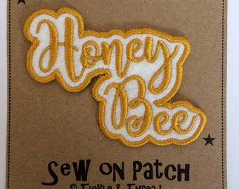Sew on Word Patch - Honey Bee