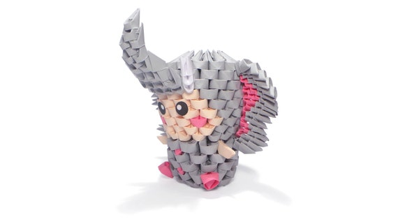 3d Origami Elephant Kid