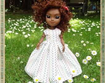 Lovely Summer Polka Dot Sleeveless Dress for Makies Doll