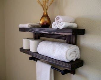 Awesome Bathroom Storage with towel Bar