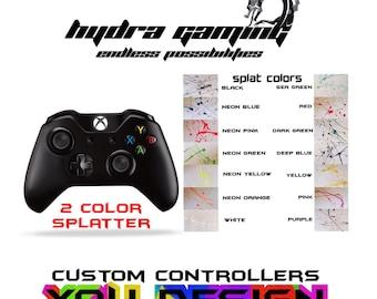Custom Xbox One Controller Black Splatter Controller