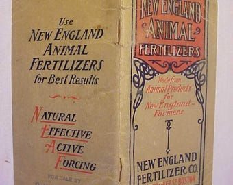 1911 New England Fertilizer Company Boston, Mass. Calendar Booklet for sale by G. W. Freeman North Montpelier, VT., Vermont History Booklet