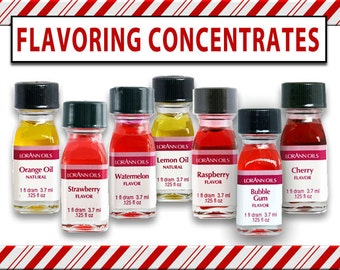 Flavoring Concentrates Super Strength for Baking and Candy Making. Single 1 Dram bottle. 70 DIFFERENT FLAVORS available