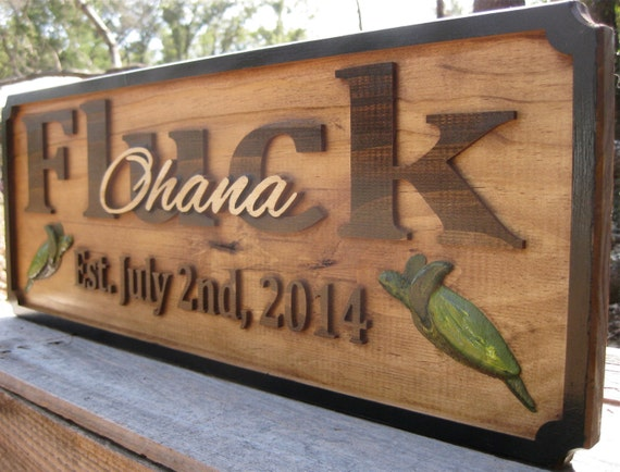 Hawaiian Wedding Gift Ideas: Hawaiian Wedding Gift Ohana Name Sign Personalized Family Name