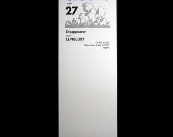 CLOUDS / 27 letterpress gig poster