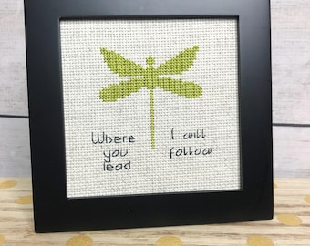 Where You Lead, I Will Follow  Cross stitch