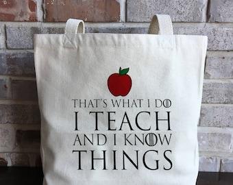 Fun Teacher Gift for Teacher Canvas Bag Teacher Tote