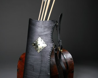 Medieval Archer Quiver; Leather Thigh Bowman