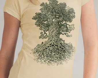 Women's Graphic Tee - Gnarled Tree Shirt - Nature Lover Gift - Forest Art - Sister Gift - Tree Art