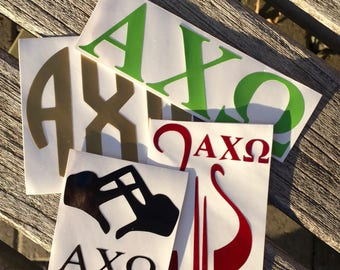 Alpha Chi Omega Decals | Sorority Stickers | Sorority Decals | Official Greek Licensed Product