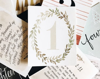 Christmas Advent Calendar// traditions-holiday decorating ideas-seasonal-christmas story-gifts for her-fireplace decor- black friday