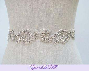 Bridal Sash, Bridal Belt, Rhinestone Sash, Bridal Dress Sash, Wedding Belts, Crystal Sash Crystal Bridal Belt Ivory Bridal Sash Wedding Belt