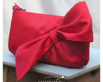 Clutch Sewing Pattern - Bow Purse Digital PDF Download