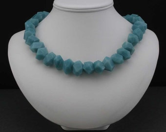 Amazonite Cut Crystal Necklace