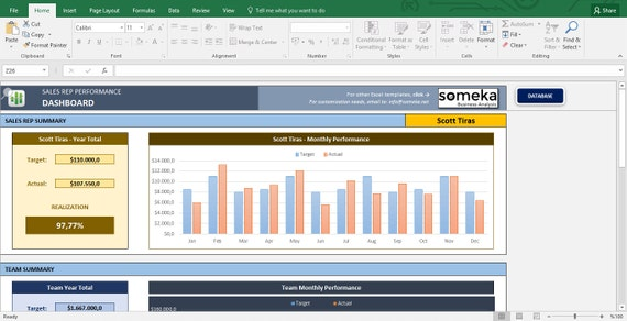 Excel templates for business sales tracking business spreadsheet excel templates for business sales tracking business spreadsheet sales template excel spreadsheet template from someka on etsy studio flashek Choice Image