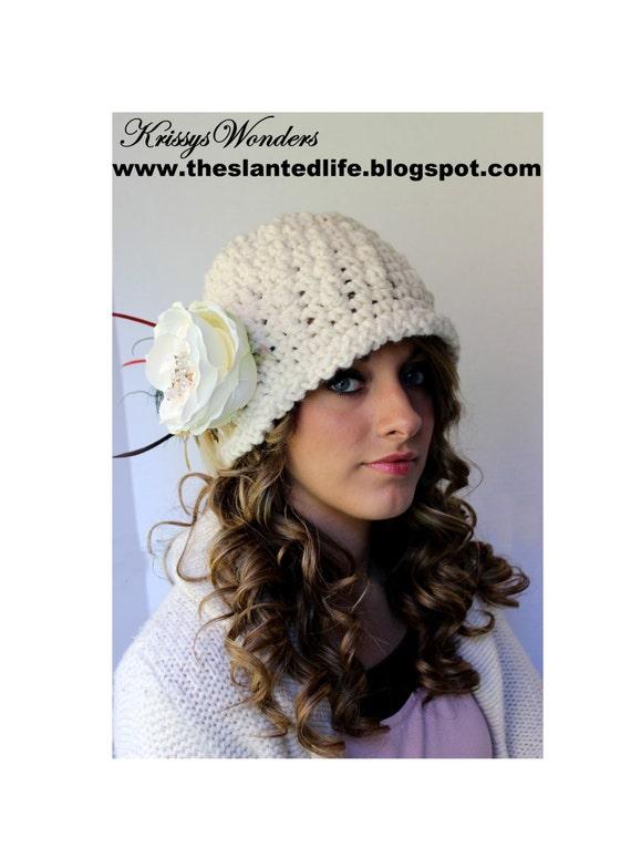Crochet Hat Pattern Chunky Downton Abbey Inspired Cloche