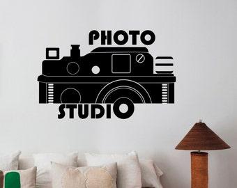 Photo Studio Logo Vinyl Sticker Window Decal Camera Art Decorations for Business Room Office Salon Photo Studio Custom Wall Decor pst4