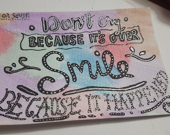 Dr Seuss Postcard Quote