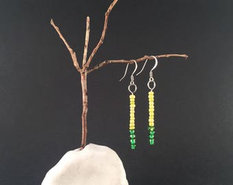Chartreuse + Green ColorBar Earrings